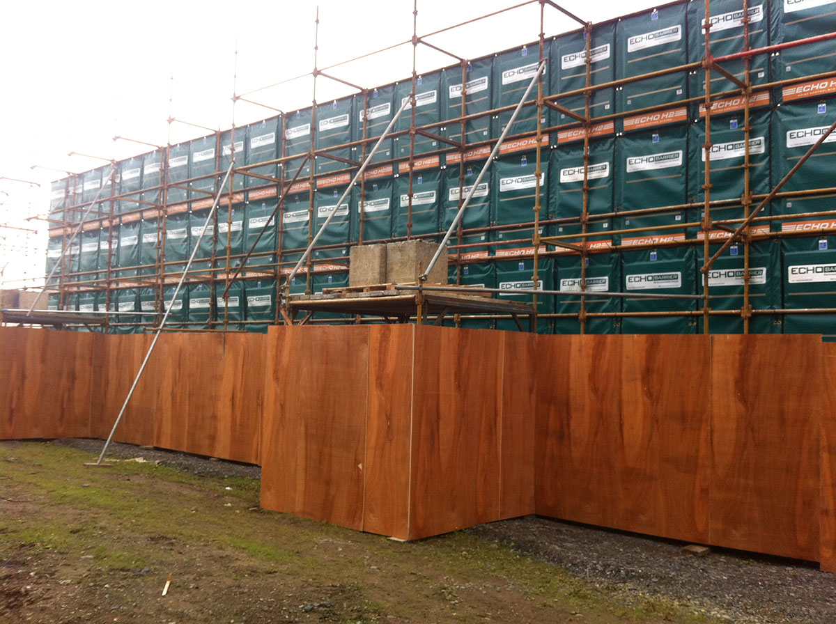 Echo barrier temporary outdoor barrier asi aeroacoustics - Exterior noise barrier materials ...